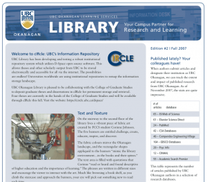 UBC's Okanagan Library newsletter