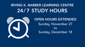 24/7 study hours at the Learning Centre