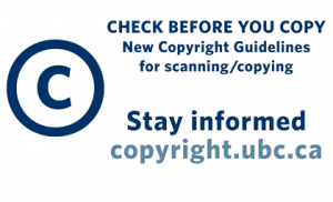 Stay current on copyright and UBC