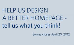 Library website survey