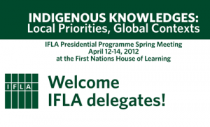 Indigenous Knowledges meeting at UBC