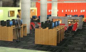A rendering of Koerner's new space