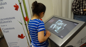 Chinese Canadian Stories multimedia project kiosk