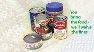 Food For Fines returns Oct. 21 – Nov. 3