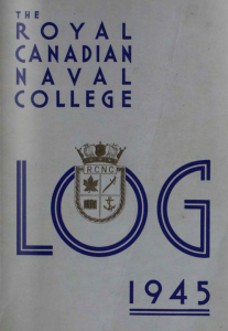 Cover of logbook from 1946