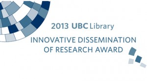 Innovative Dissemination of Research Award 2013 graphic