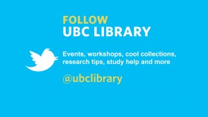 Twitterverse praise for UBC Library