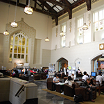 Students studying in Chapman Learning Commons