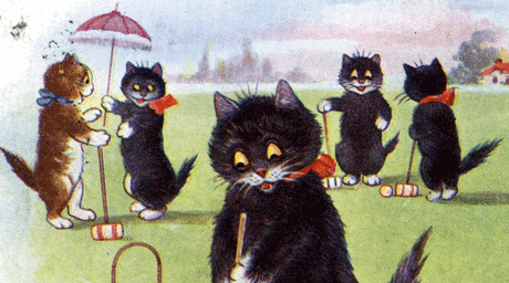 cats playing croquet