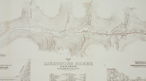 Map of the Lightning Creek, Cariboo, 1875. Courtesy of UBC Library.
