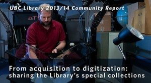 From acquisition to digitization: sharing the Library's special collections