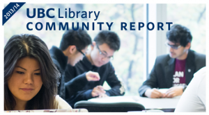Sustaining success: UBC Library's 2013/14 Community Report