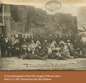 Rare Sikh Sangat photo in Macau at UBC Library