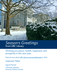 Seasonal message from the University Librarian