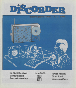 The June 2000 issue of Discorder magazine