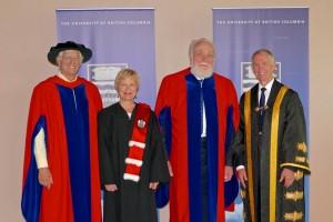 University Librarian Ingrid Parent and Dr. Uno Langmann