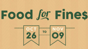 Food For Fines at UBC Library