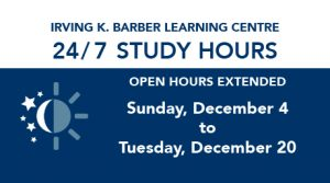 24/7 study hours at IKBLC