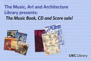 Annual Music Sale Hosted by Music, Art and Architecture Library