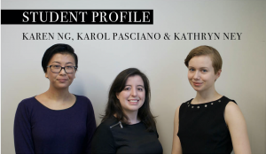 Meet Karol, Karen and Kathryn, Student Curators