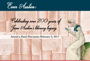 POSTPONED DUE TO INCLEMENT WEATHER: Ever Austen Panel Discussion Feb 3