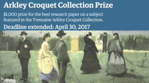 Annual croquet research prize