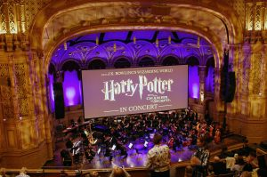 UBC Library's Harry Potter collection and magical creatures books at the Vancouver Symphony Orchestra