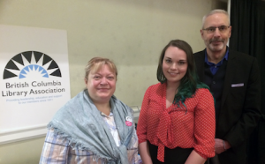 Librarians Galina Durant and Cari Lynn Gawletz with Gordon Yusko, Assistant Director of Community Engagement at Irving K. Barber Learning Centre.