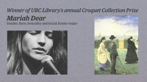 UBC student wins Library's Croquet Collection Prize