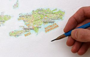 Drawing a continent by hand with Anton Thomas