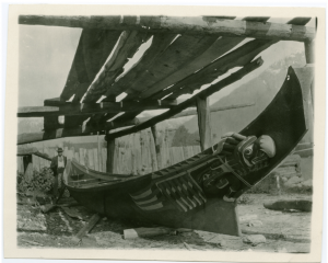 Image of a Bella Coola canoe, digitized by the United Church Archives in 2010, after receiving BCHDP funding.