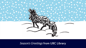 Season's Greetings from University Librarian Susan E. Parker