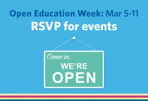 Open Education Week at UBC is happening March 5–11.