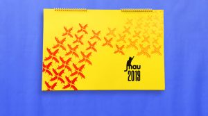 Makers Artists United calendar cover by Elisa Yon.
