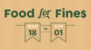 Food for Fines 2019 runs from March 18 until April 1