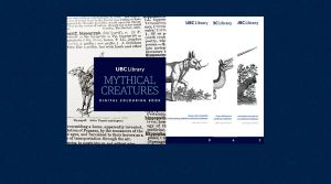 UBC Library launches a new 'Mythical Creatures' themed digital colouring book