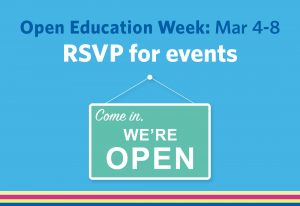 Open Education Week at UBC is happening March 4–8.
