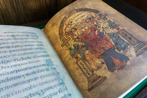 The Book of Kells facsimile now on permanent display in UBC Library's Ridington Room