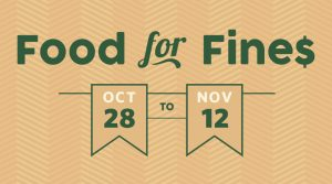 Food for Fines 2019 Fall campaign runs from October 28 to November 12
