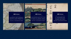 Download UBC Library's 'Maps and Landscapes' digital colouring book series