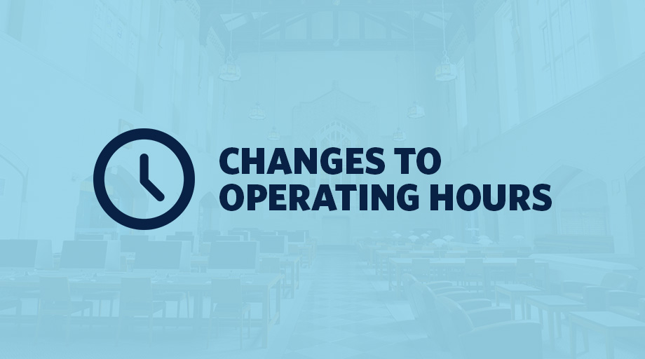 UBC Library Changes to hours