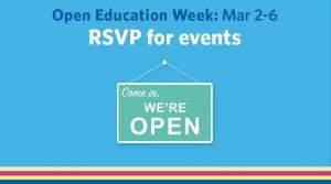 Open Education Week: March 2-6