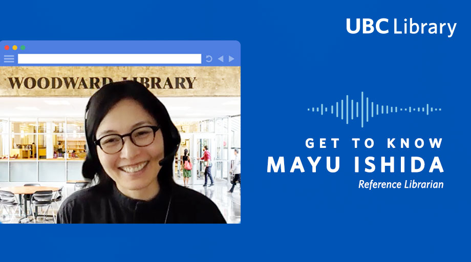Get to Know Mayu Ishida, Reference Librarian graphic