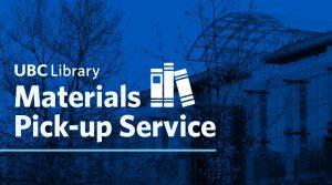 Materials Pick-up Service