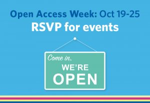 Open Access Week runs October 19-25