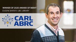 Eugene Barsky wins the 2020 CARL Award of Merit