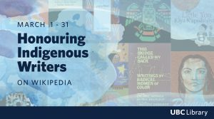 Read, learn and share at the Honouring Indigenous Writers Wikipedia event