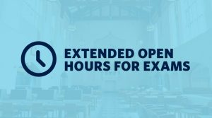 IKBLC extended open hours for exams